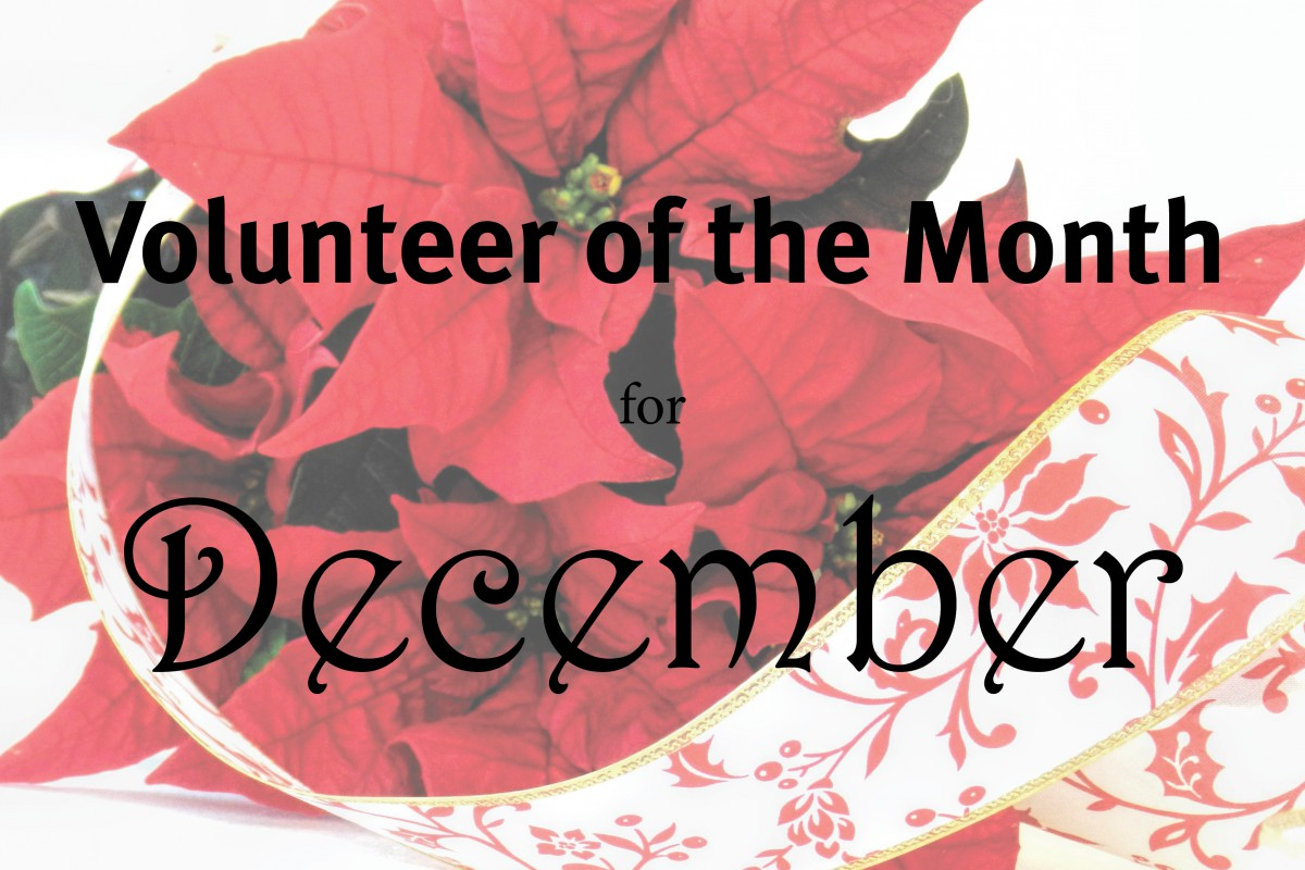 December's Volunteer of the Month
