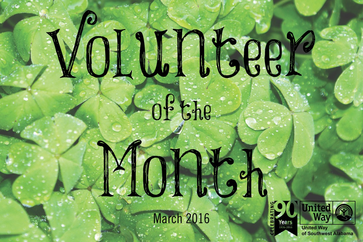 March Volunteer of the Month