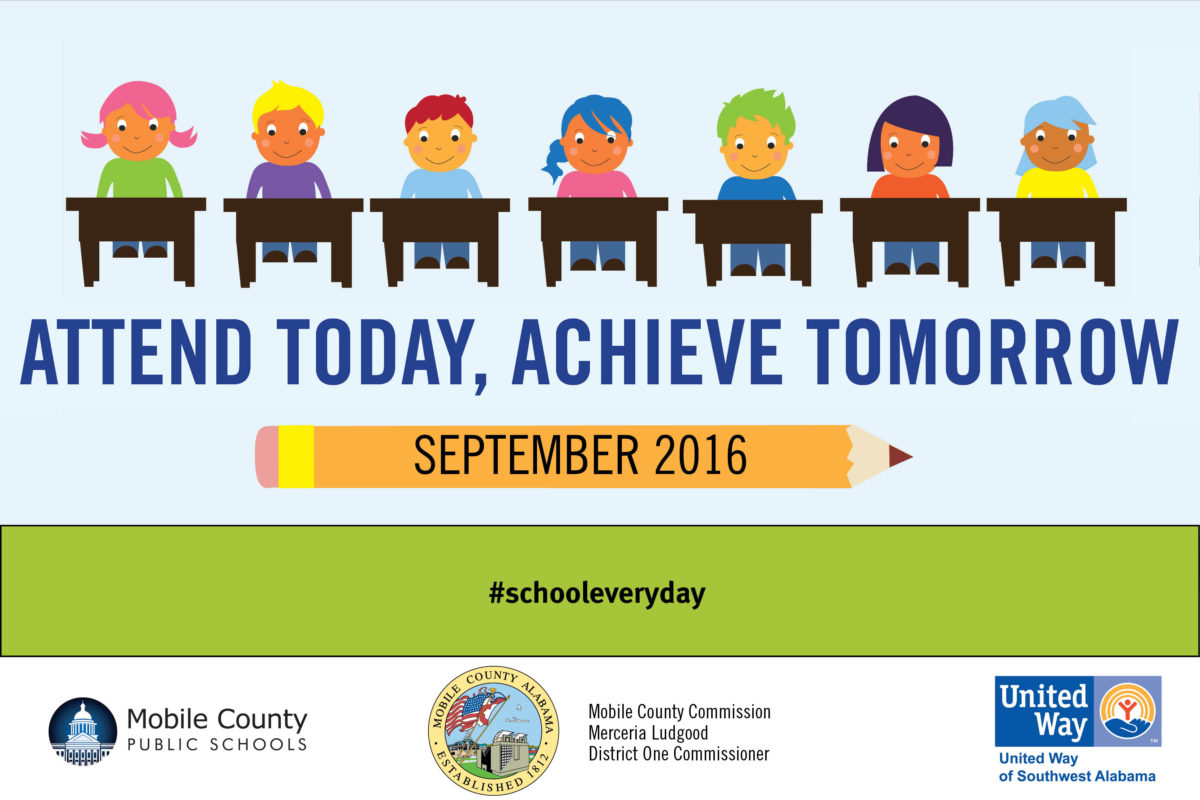 United Way, MCPSS, & Mobile County Commissioner Merceria Ludgood Pledge to Engage Community, Families, & Students to Reduce Chronic Absenteeism