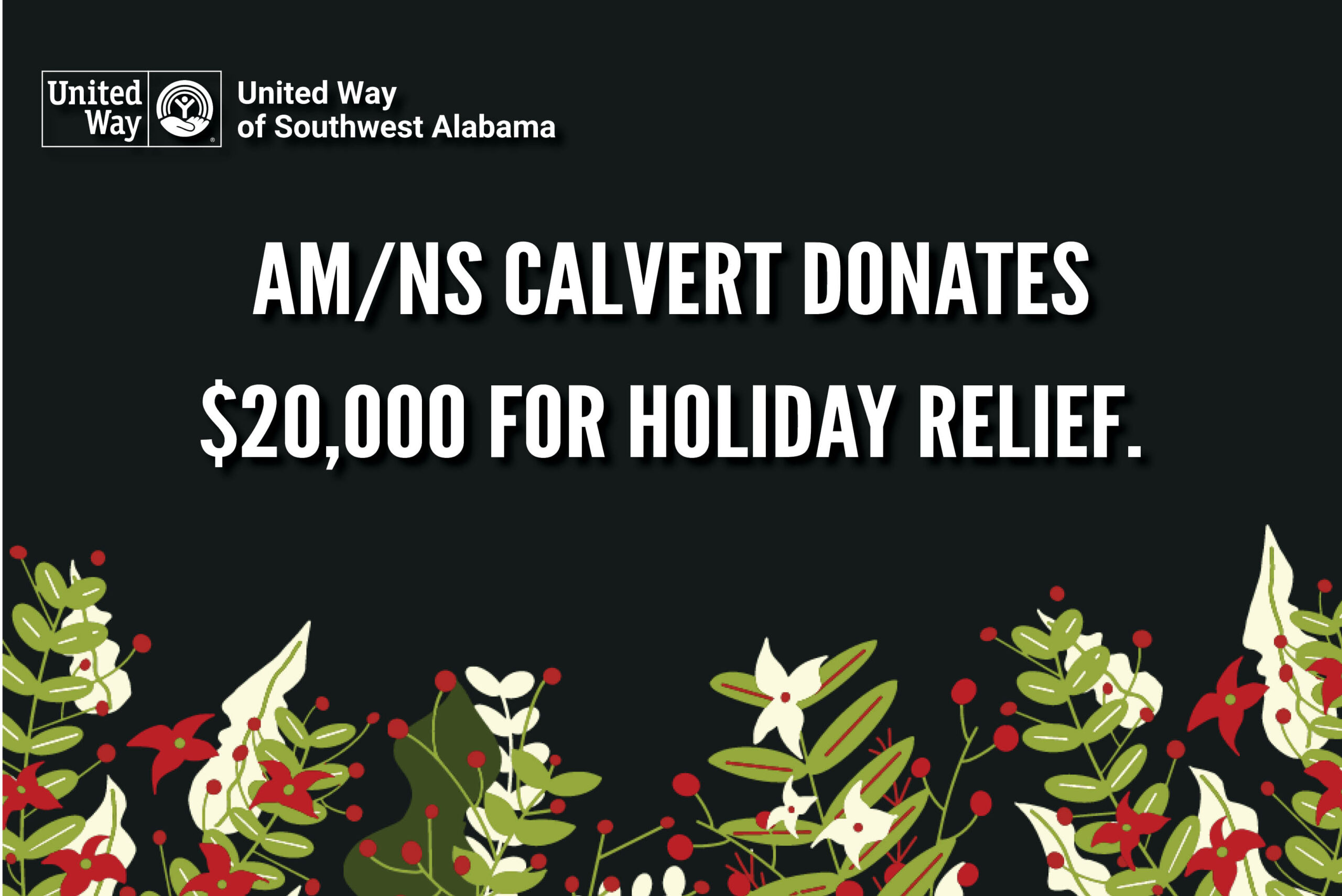 AM/NS Calvert donates $20,000 for holiday relief