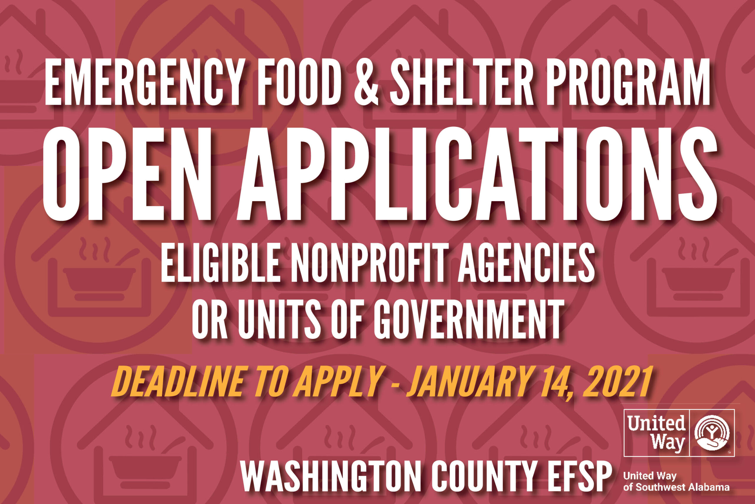 Emergency Food and Shelter Program Open Applications