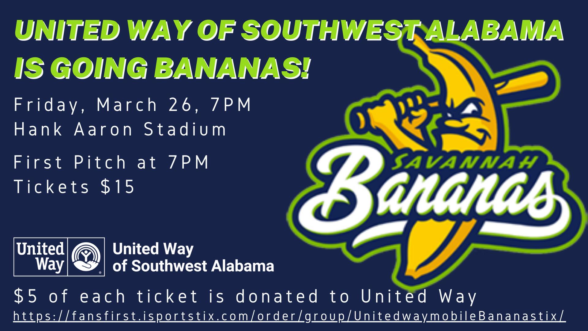 United Way Night with the Savannah Bananas
