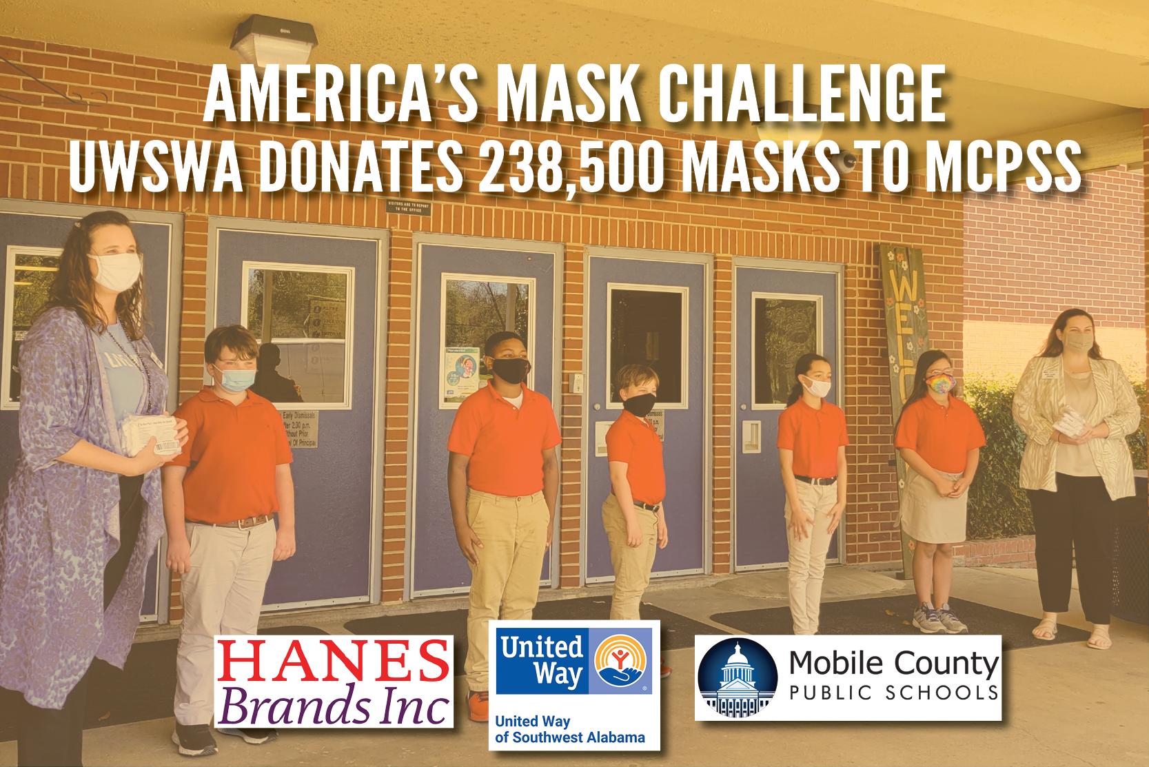 UWSWA donates 238,500 Masks to MCPSS