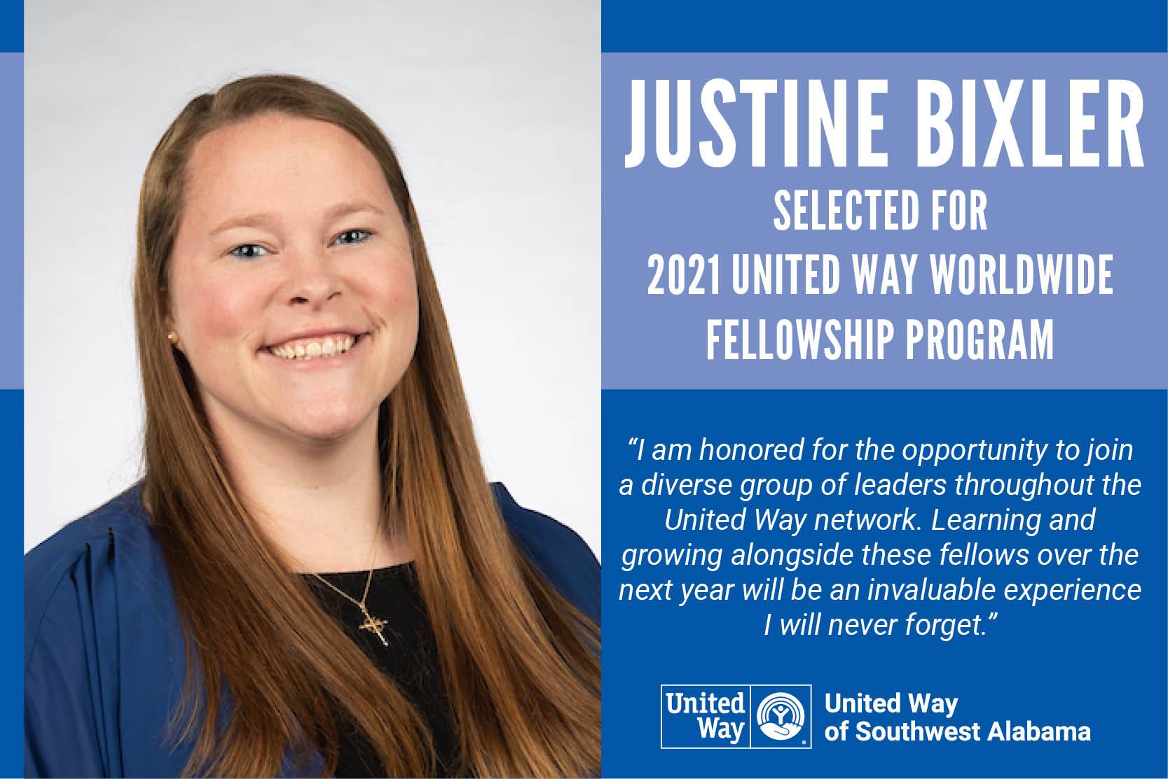 Bixler selected for United Way Worldwide Followship Program