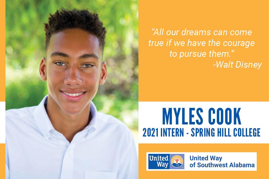 Myles Cook - 2021 Intern