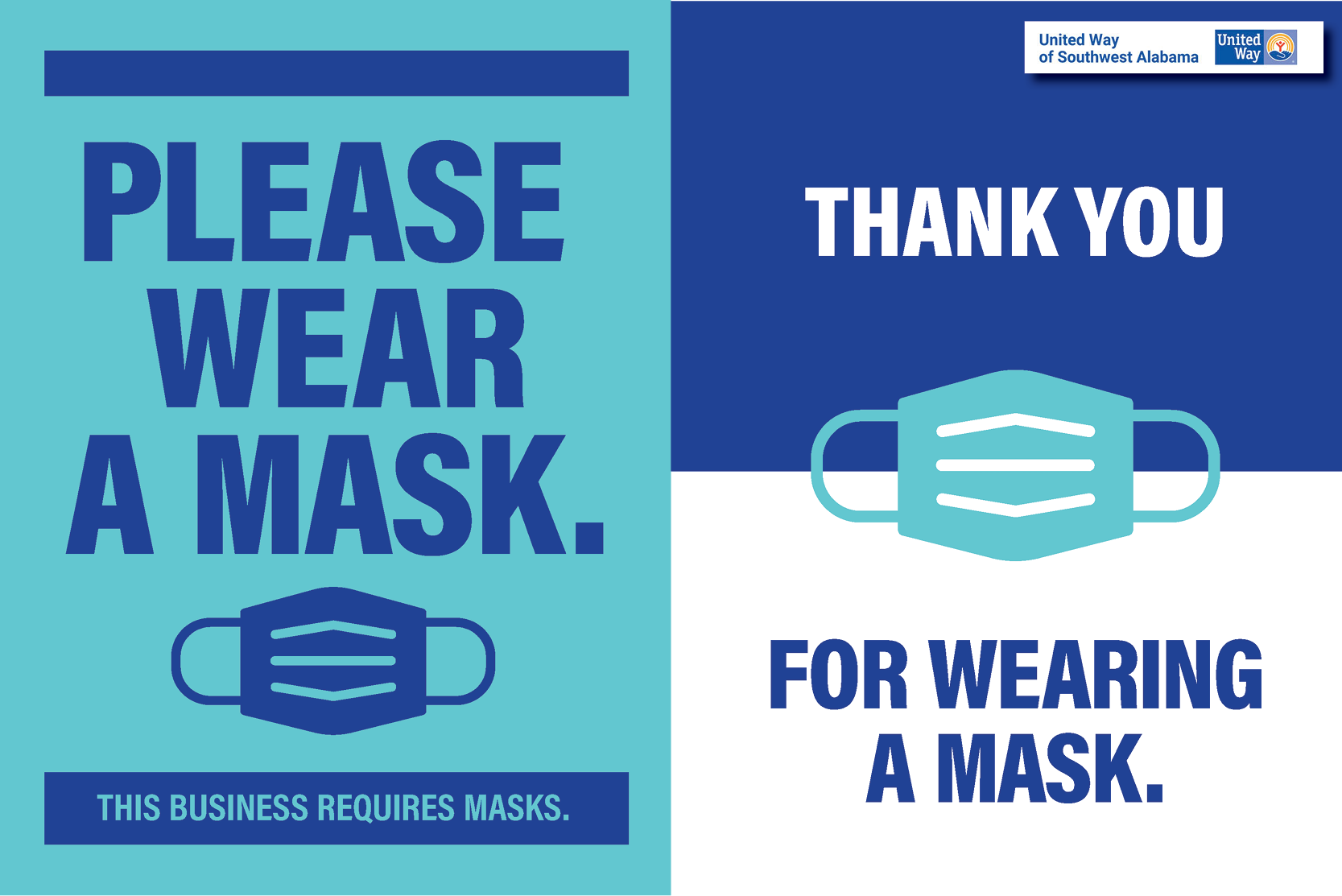 Safer Apart - Please wear a mask