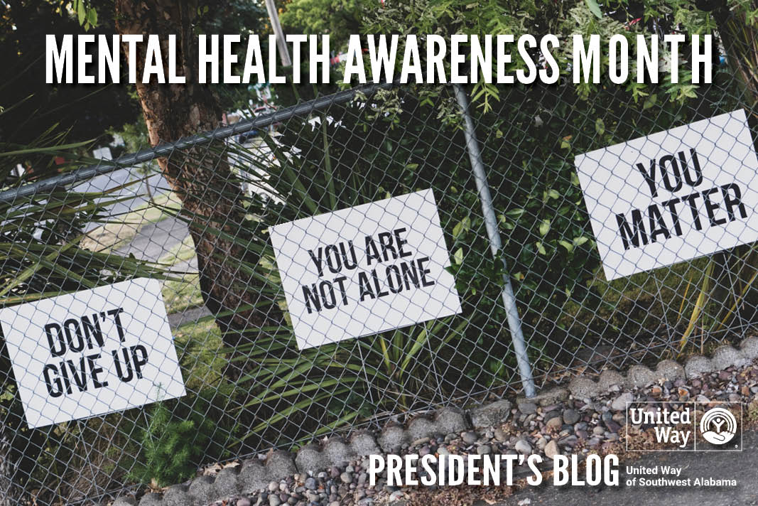 President's May Blog - Mental Health Awareness Month